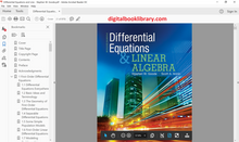 Differential Equations and Linear Algebra 4th Edition - PDF Version