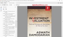 Investment Valuation: Tools and Techniques for Determining the Value of Any Asset 3rd Edition - PDF Version