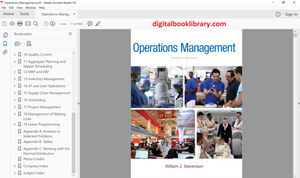 Operations Management 12th Edition by William J Stevenson (Ebook, PDF)
