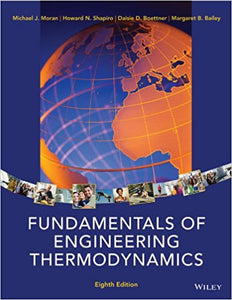 Fundamentals of Engineering Thermodynamics 8th Edition - PDF Version