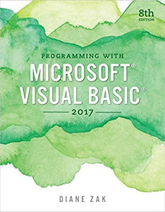 Programming with Microsoft Visual Basic 2017 8th Edition - PDF Version