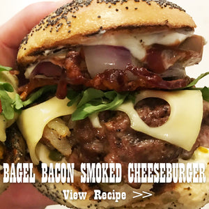 Bagel Bacon Smoked Cheeseburger