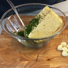 Garlic Pepper Chive Compound Butter