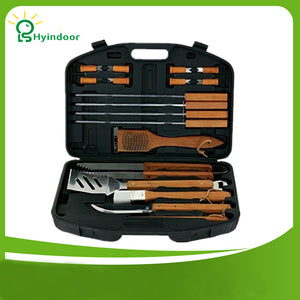 18 Piece Stainless Steel Barbecue Tool Sets