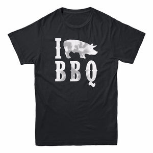 I Love Heart Pig BBQ T-Shirt
