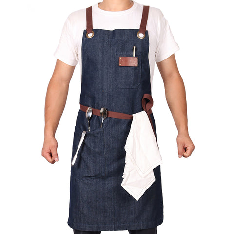 Denim Apron with Adjustable Cotton Straps