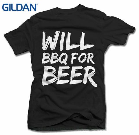 Will BBQ For Beer T-Shirt