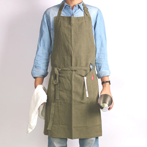 Linen Apron With Extra Long Pockets
