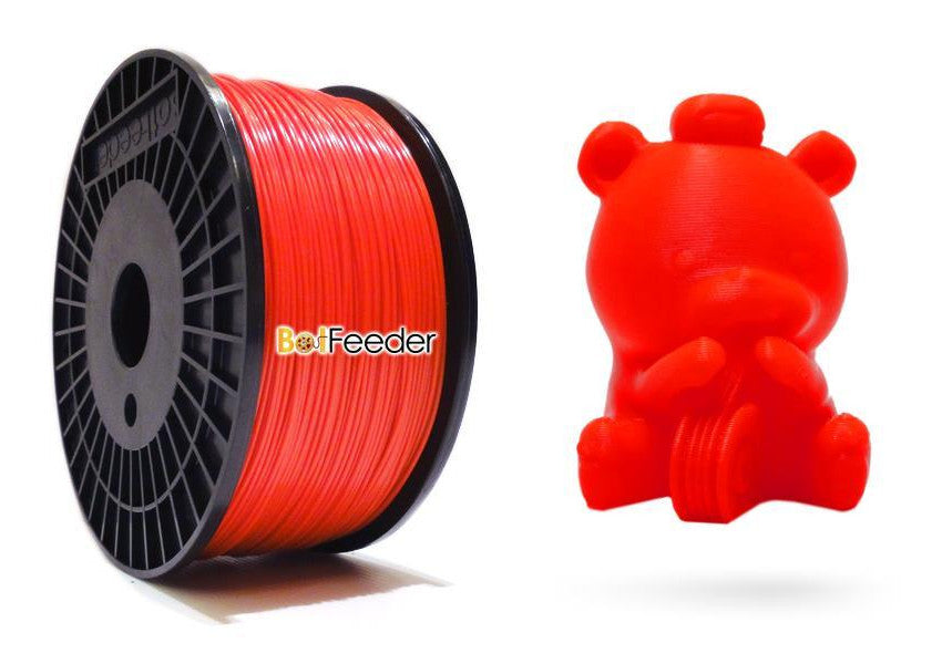 BotFeeder ABS Red Filament & BoFee Bear