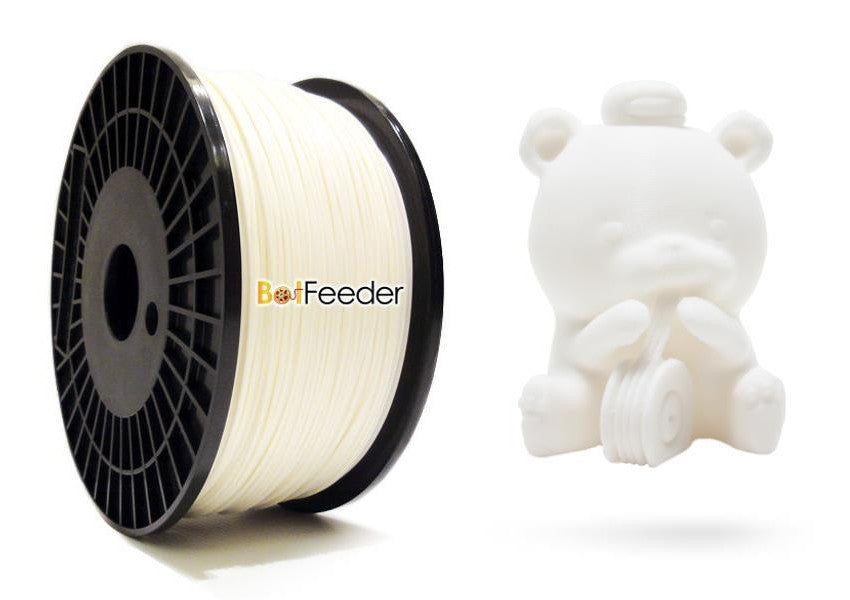 BotFeeder ABS White Filament & BoFee Bear