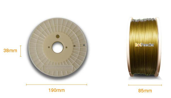 BotFeeder PLA Metallic Gold Filament Dimension