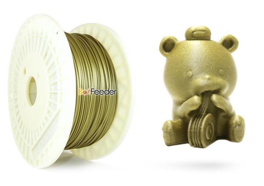BotFeeder PLA Metallic Gold Filament & BoFee Bear