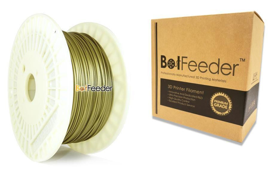 BotFeeder PLA Metallic Gold Filament in the Box
