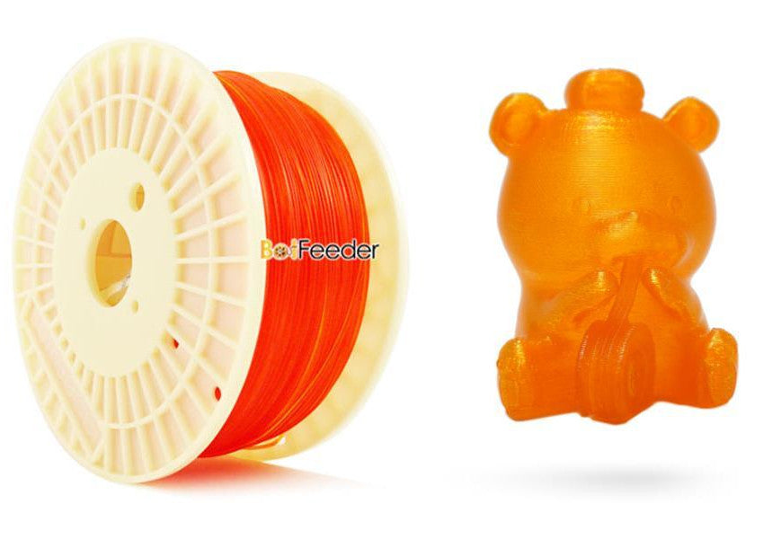 BotFeeder PLA Transparent Orange Filament & BoFee Bear