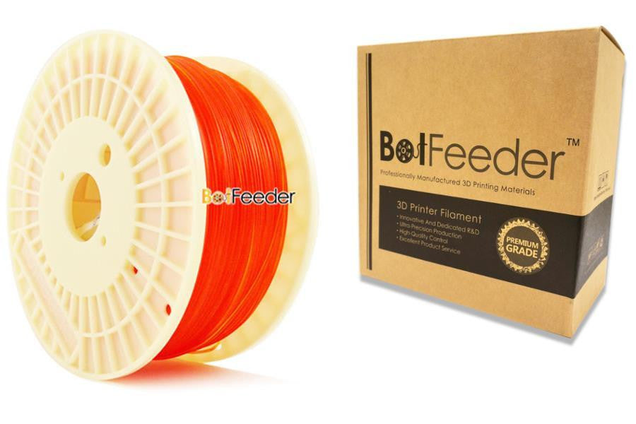 BotFeeder PLA Transparent Orange Filament in the Box