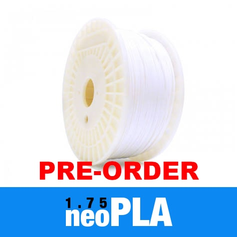 Pre-order June/July 1kg neoPLA Filament 1.75mm – Piano White