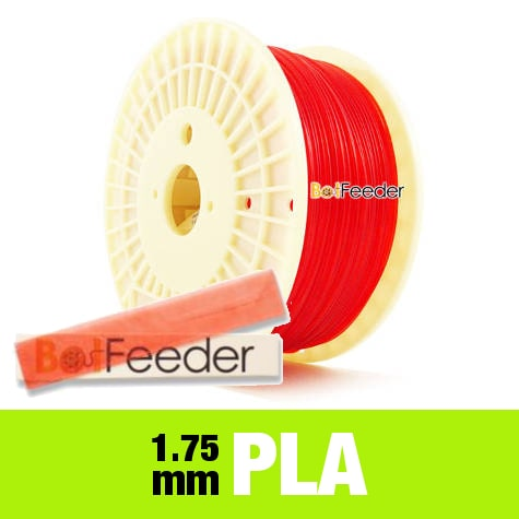 1kg PURE PLA Filament 1.75mm – Transparent Red
