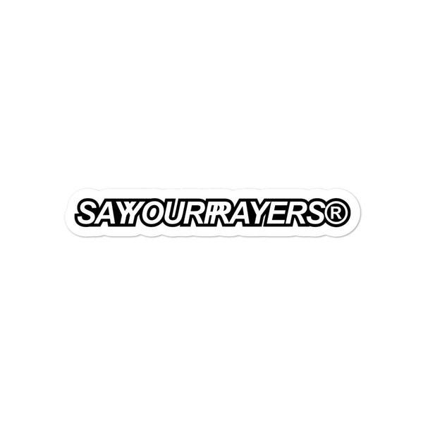 SAYYOURPRAYERS® Sticker