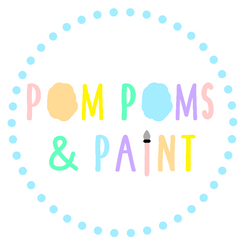Pom Poms and Paint Logo