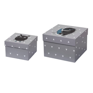 Set of 2 Grey Storage Box