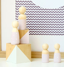 Pink Wooden Peg Doll
