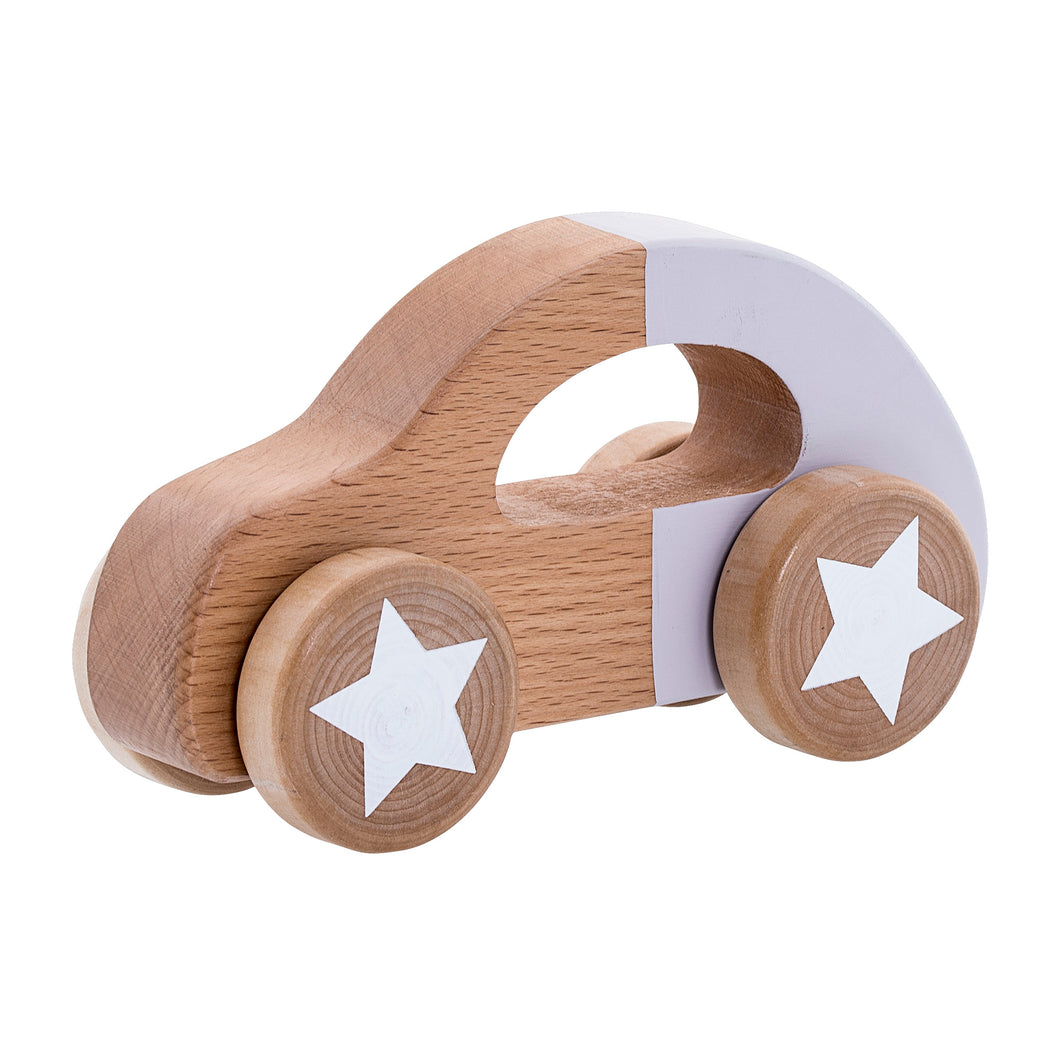 Wooden Purple Toy Car