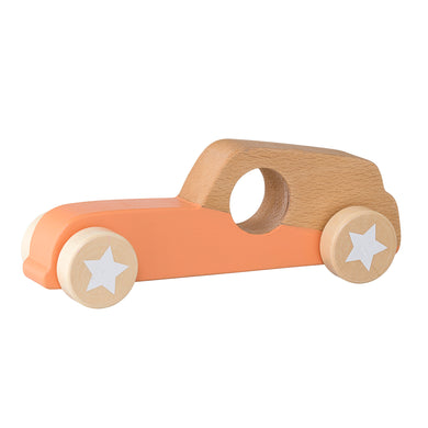 Wooden Orange Toy Race Car