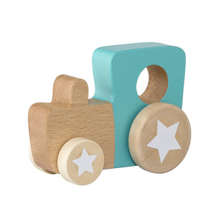 Wooden Green Toy Tractor