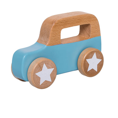 Wooden Blue Toy Car