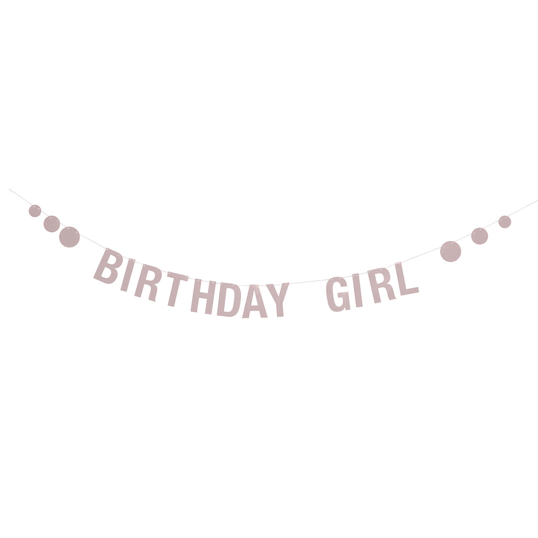 Pink Birthday Girl Paper Garland