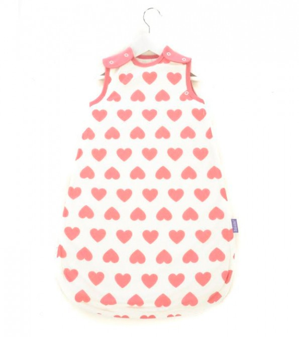 Pink Heart Babasac 2-in-1 Multi Tog Sleeping Bag