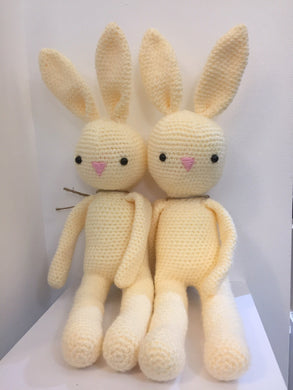 Cream Crocheted Bunny