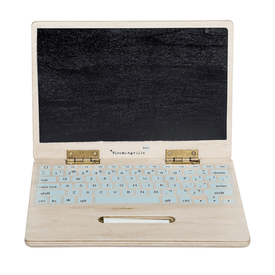 Wooden Blackboard Laptop