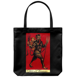 Krampus Tote on Black background