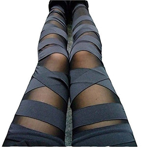 Bandage Mesh Leggings, Black, One Size - Sexy, Gothic, easy to wear