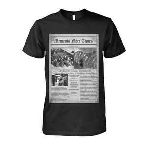 Dyatlov Pass Incident - Black T Shirt  Unisex Cotton Tee