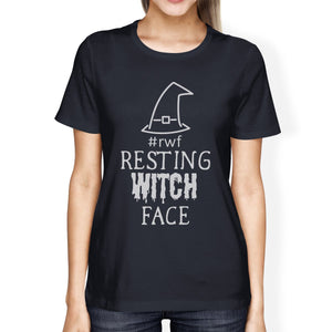 Rwf Resting Witch Face Womens Navy Shirt