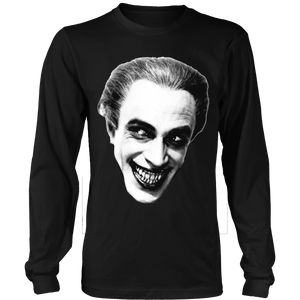 Man Who Laughs image on long sleeve T