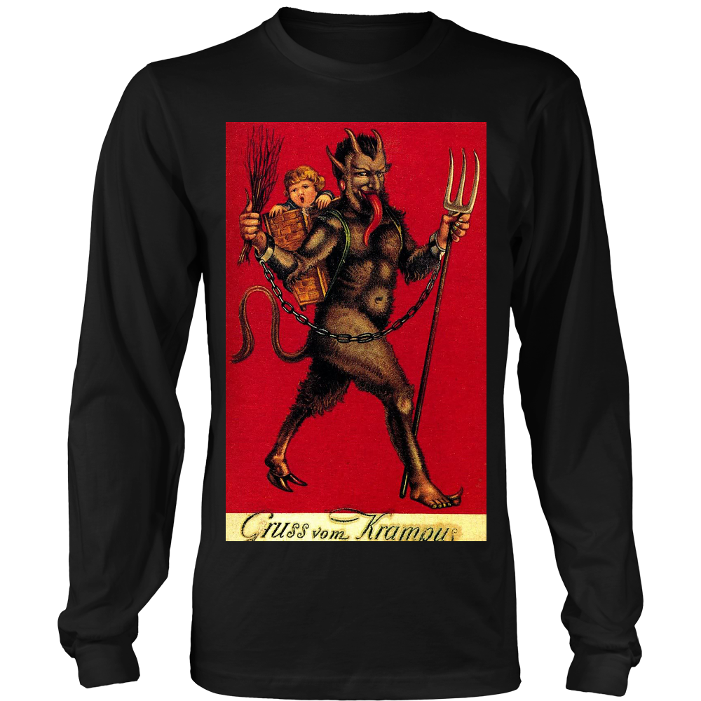 Krampus Red - Long Sleeve T Shirt