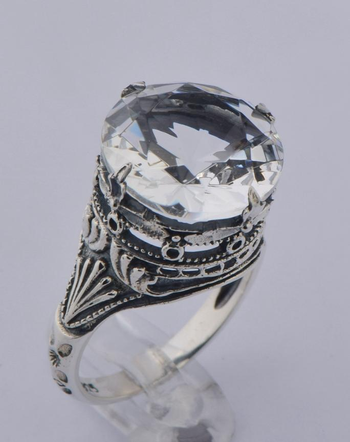 Amazing!!!Queen Victorian style restoring ancient ways, 925 sterling silver hollow out white zircon rings