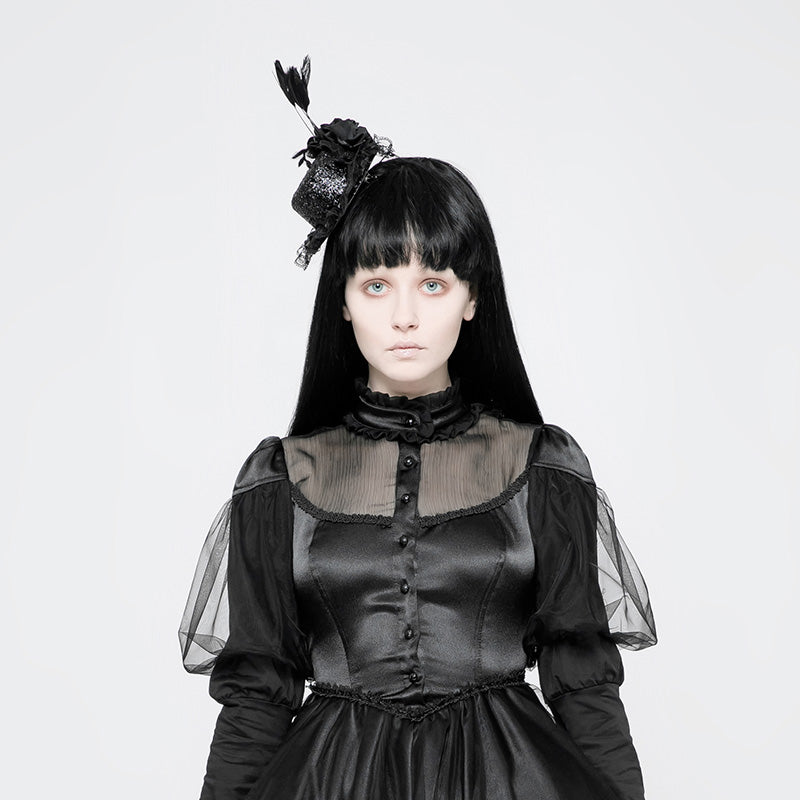 Gothic Lolita Sweet Tiny Black Hat Hair Jewelry/Accessory,  Steampunk Retro