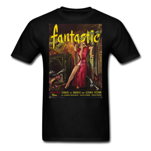 Fantastic! Stories of Fantasy & Science Fiction T-Shirt / great Pulp Magazine cover image - black
