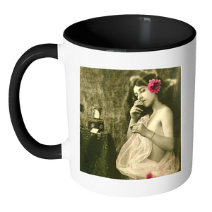 Victorian Pinup girl photo on 11oz mug