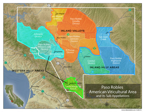 Paso Robles Sub Appellations
