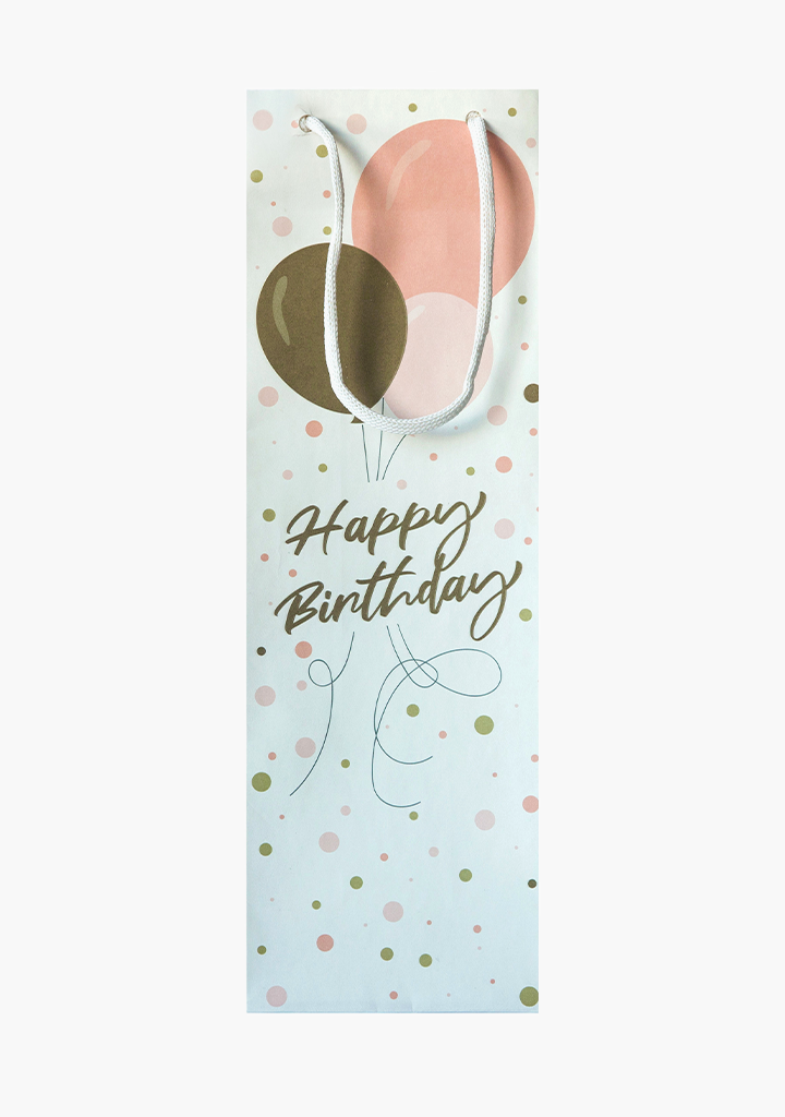 Happy Birthday Balloon Gift Bag