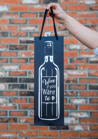 Wine Lines Gift Bag-Giftware