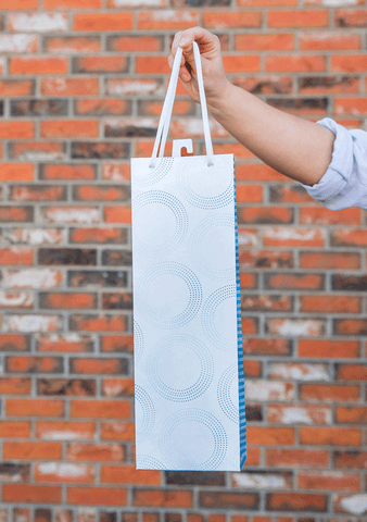 Geometric Blue Gift Bag-Giftware