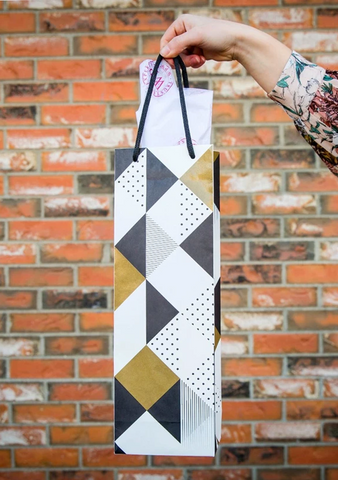 Geometric Triangles Gift Bag-Giftware