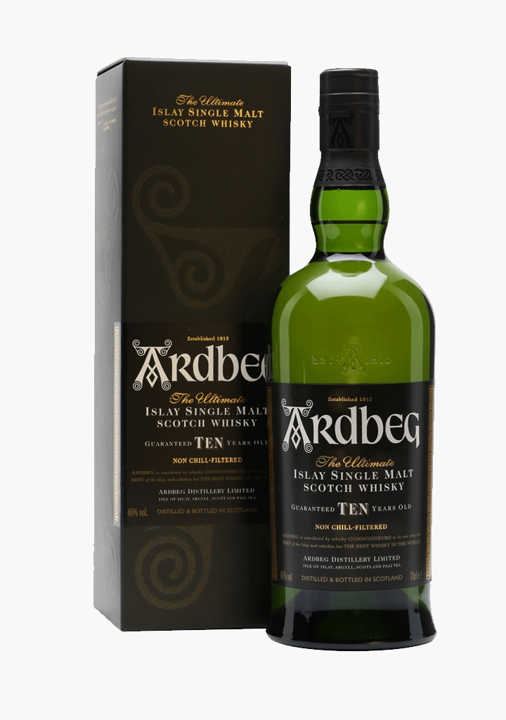 Ardbeg Single Islay 10 Year Old-Spirits