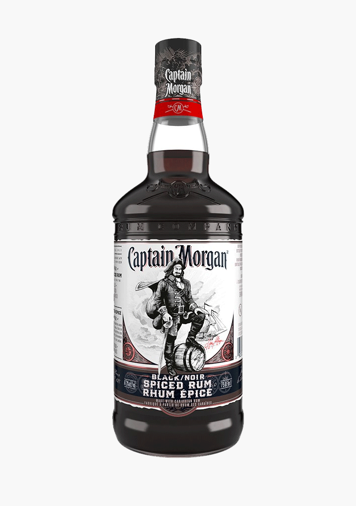 Captain Morgan Black Spiced Rum-Spirits